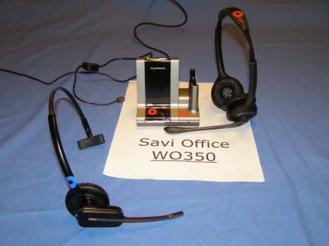W740 Guset Headset Conferenced to a WO350 Host Base