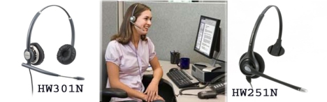 Corded Telephone Headsets
